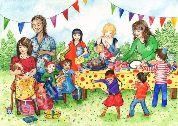 Birthday Party Milky Moments Print