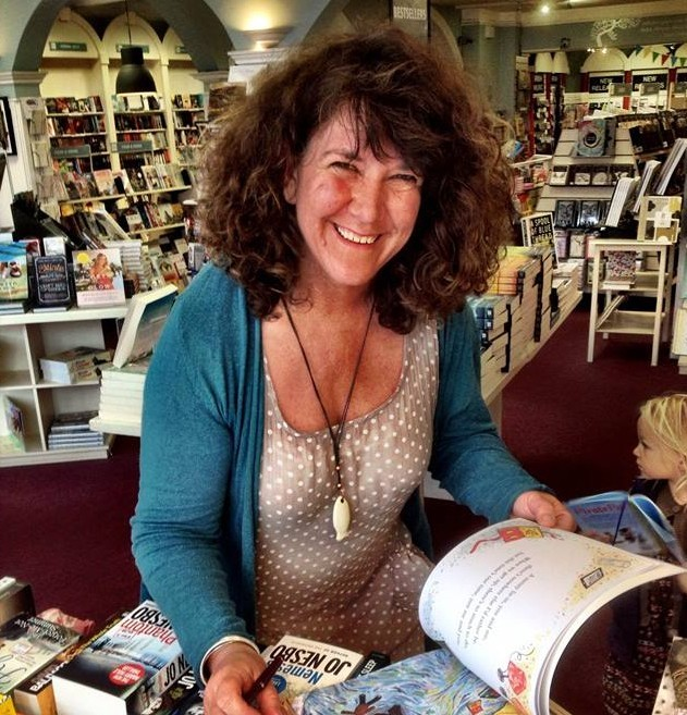 Ellie in liber books in sligo august 2015